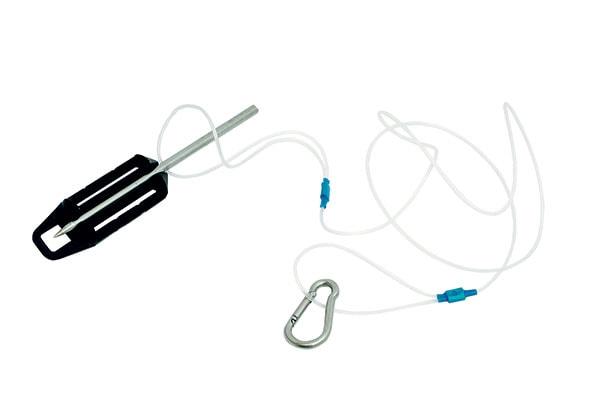 one size Multicolor Omer Unisexs Fish Holder /& Fish Stringer Bag